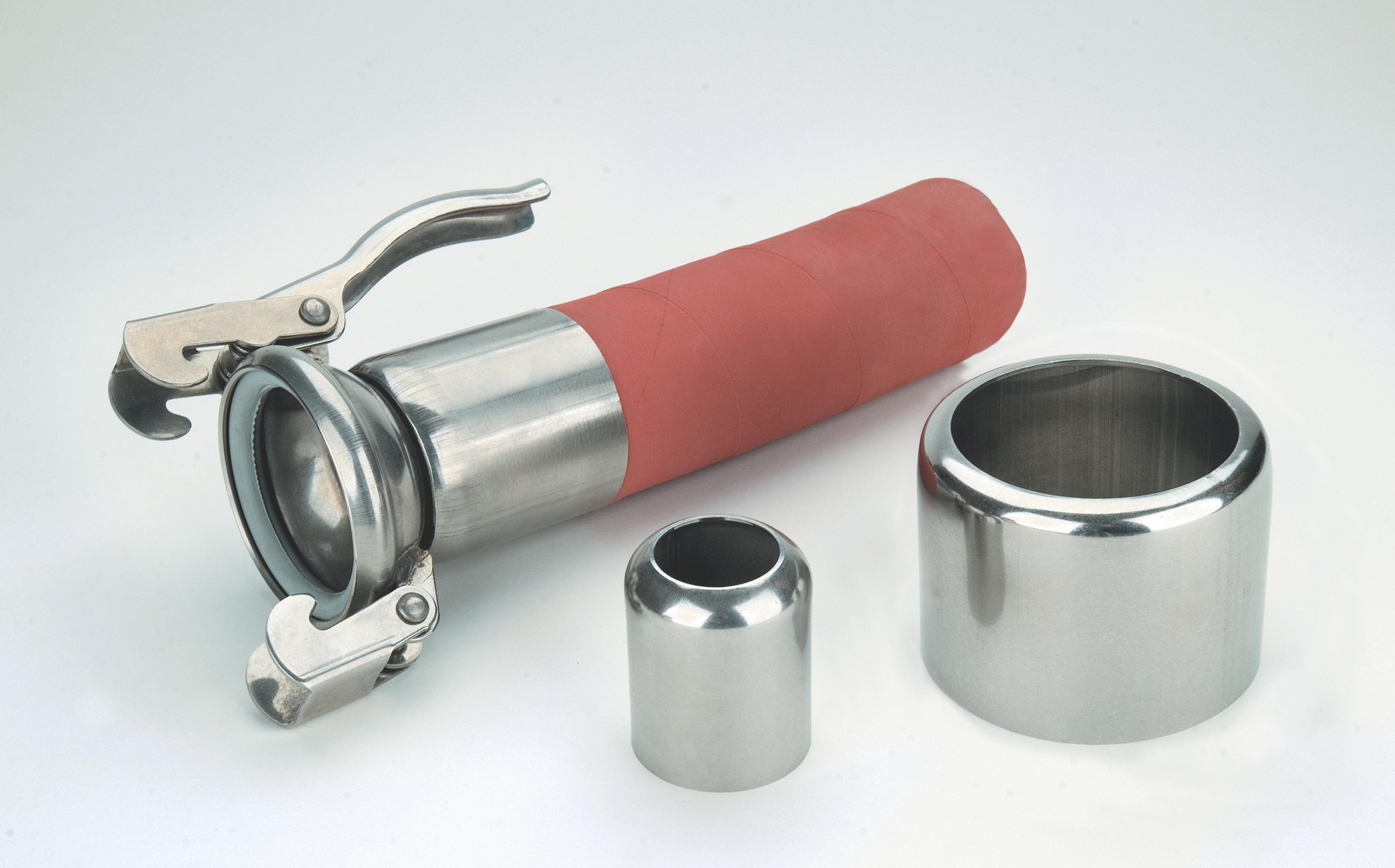 Обжимные и зажимные соединительные муфты из нержавеющей стали  или алюминия.